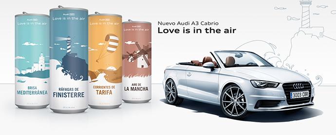 Audi vende latas de aire con denominación de origen