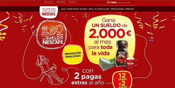 Nescafé entrega el 'Sueldo para toda la vida 2014'