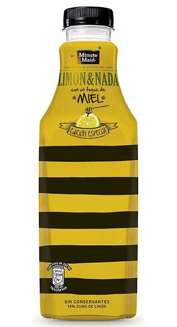 Delamata Design, packaging para  Minute Maid Limón&Nada con un toque de Miel