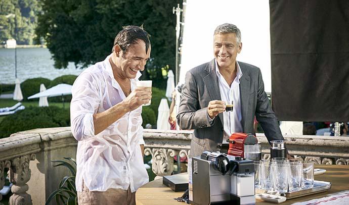 George clooney y jean dujardin nespresso for Dujardin clooney