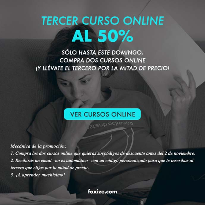 Compra dos cursos online ¡y llévate el tercero al 50%!