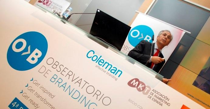 Víctor Mirabet, consejero delegado de Coleman CBX, durante su intervención.