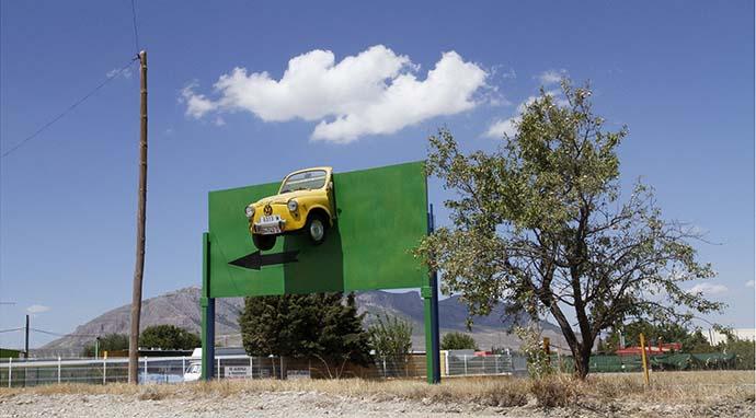Artefactos publicitarios en las carreteras españolas