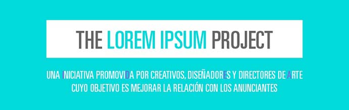 El Club de Creativos lanza la campaña The Lorem Ipsum Project