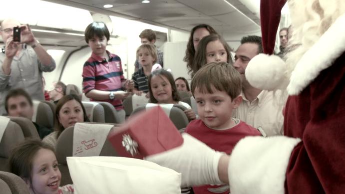 Papá Noel vuela en Iberia