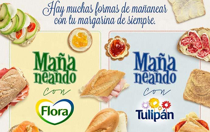 Unilever, campaña transversal para Tulipán y Flora