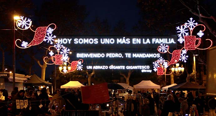 Nescafé patrocina un nuevo concepto de iluminación navideña
