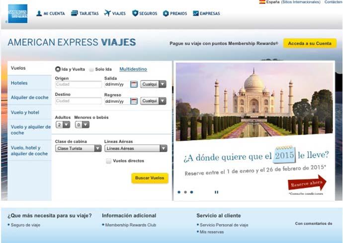 American Express lanza un servicio de viajes online en España