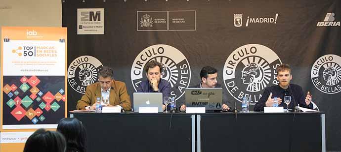 """El """"III Estudio Top 50 Marcas en Redes Sociales"""" se ha presentado en el Círculo de Bellas Artes de Madrid."""