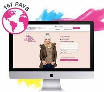 Showroomprive, site multipaís y venta en 167 países