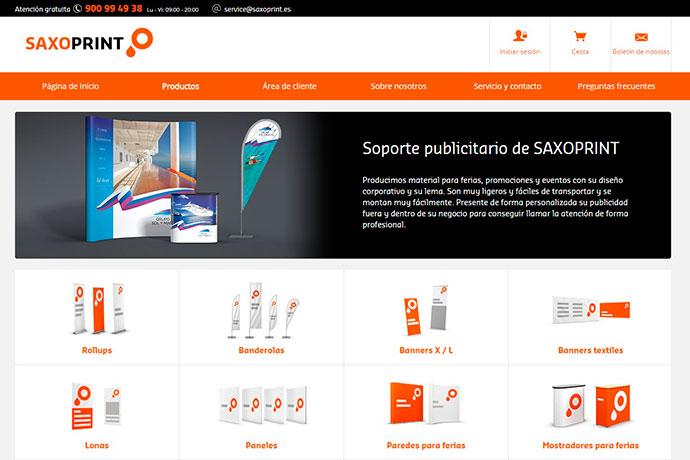 Saxoprint presenta su línea de soportes publicitarios