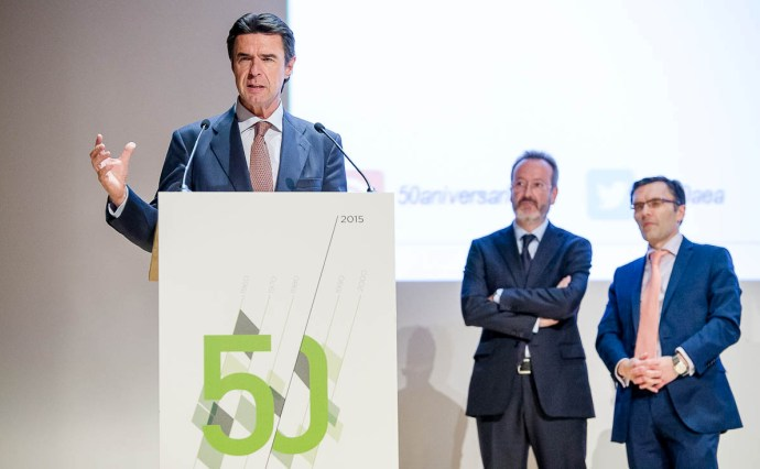 AEA, José Manuel  Soria, 50 aniversario