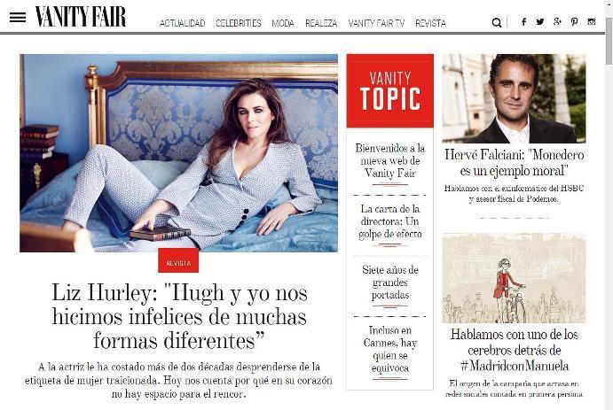 Vanity Fair relanza su web apostando por los contenidos exclusivos