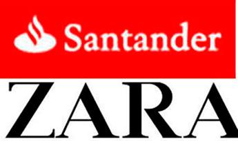 Zara y Santander refuerzan su posición entre las 'megamarcas' globales