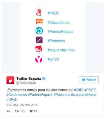 Twitter crea emojis para la campaña electoral