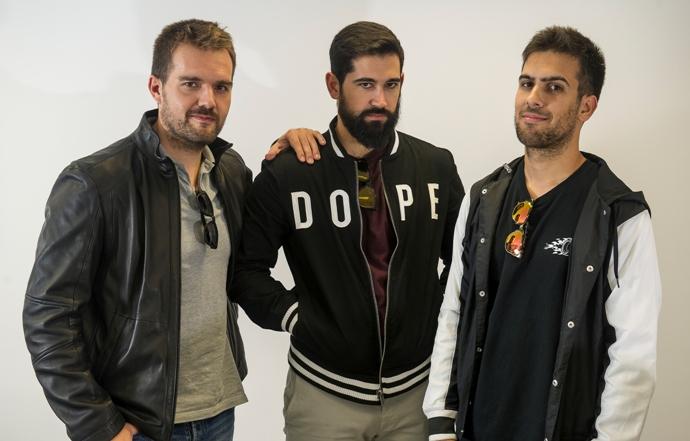 De izquierda a derecha, David Moreno, Sergio Mora y Pablo sánchez.