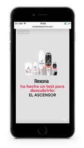 Campaña móvil de Rexona con formato inRead Vertical