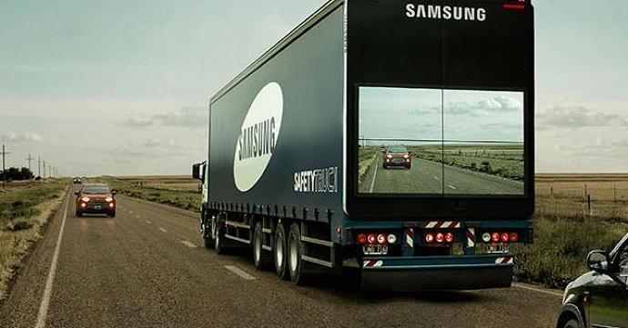 Camión Safety Truck de Samsung, Sol de Platino en El Sol 2016.