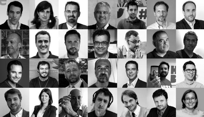 """Colaboradores del libro electrónico """"El vídeo en la era post-YouTube""""."""
