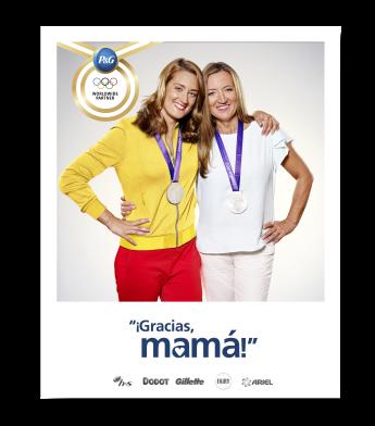 Campaña de P&G con Mireia Belmonte y su madre.