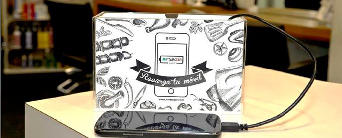 MYTARG3R, el soporte publicitario que carga móviles