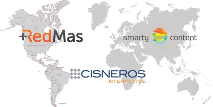 Smartycontent, RedMas, Cisneros Interactive, Smartycontent America
