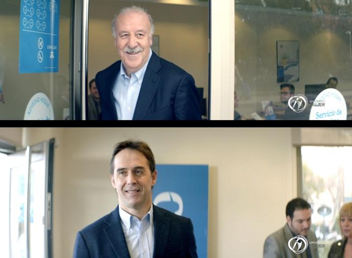Lopetegui y Del Bosque, juntos en el nuevo anuncio de Pelayo