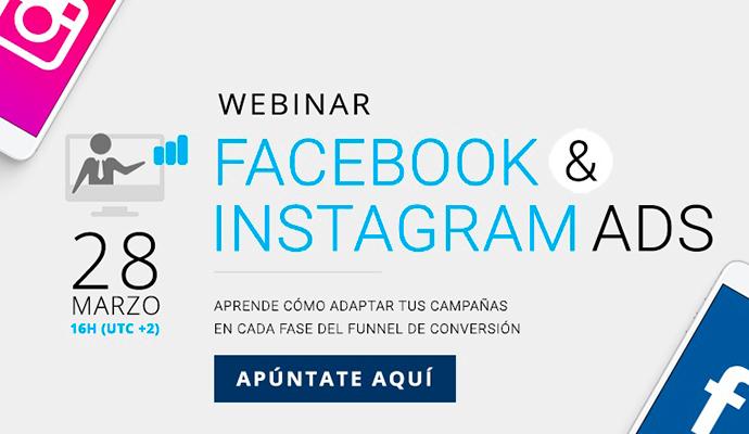 Descubre cómo mejorar tu publicidad en Instagram y Facebook con el webinar de Cyberclick