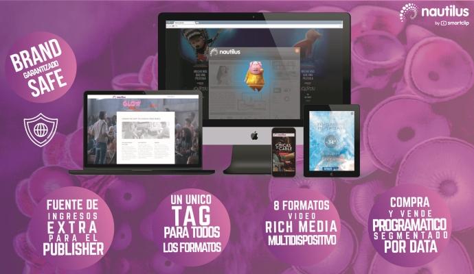 Smartclip lanza la plataforma de vídeo rich media Nautilus