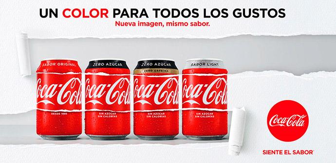 Coca-Cola consolida su estrategia de 'marca única' con una nueva imagen en sus envases
