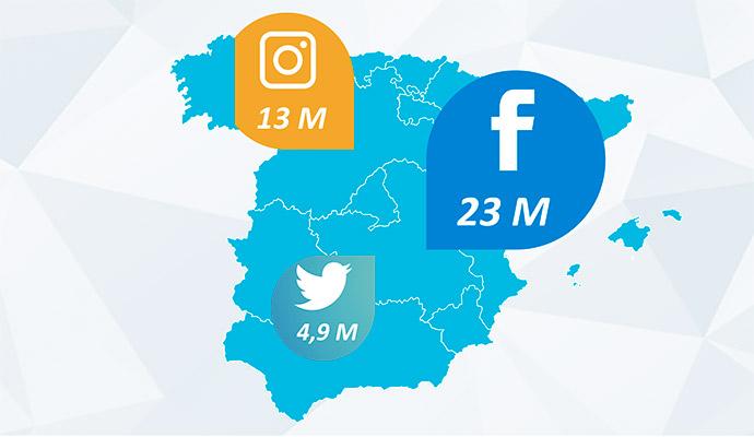 La vuelta a España en tres redes sociales