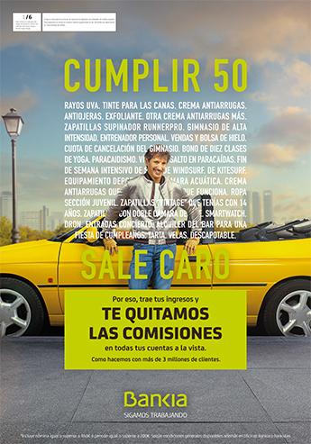 La nueva campaña publicitaria de Bankia, con creatividad de El Ruso de Rocky, ironiza con lo caro que sale vivir.