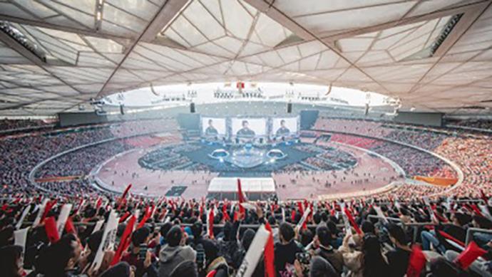 Finales del campeonato del mundo de League of Legends en Pekín. Foto: Riot Games.