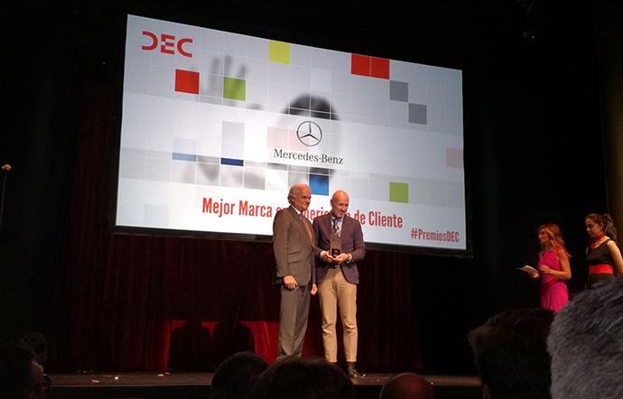 Mercedes Benz ha obtenido el Premio DEC a la Mejor Marca en Experiencia de cliente.