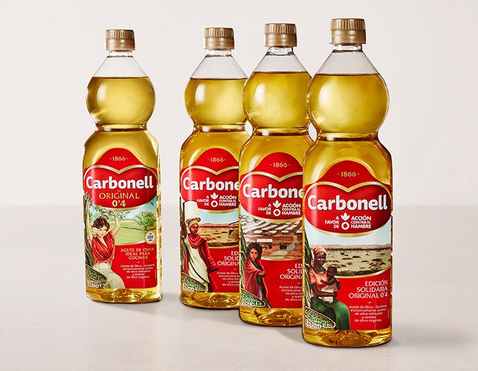 La nueva campaña publicitaria de Carbonell  quiere visibilizar en las cocinas y los supermercados el problema de la falta de alimentos y agua que sufren muchos pueblos.