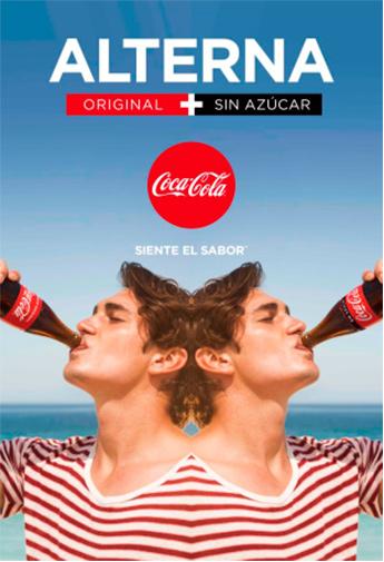 Coca-Cola invita al consumo combinado de sus versiones con y 'sin'