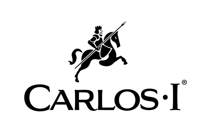 Logo de la marca de brandy Carlos I, propiedad del Grupo Osborne.