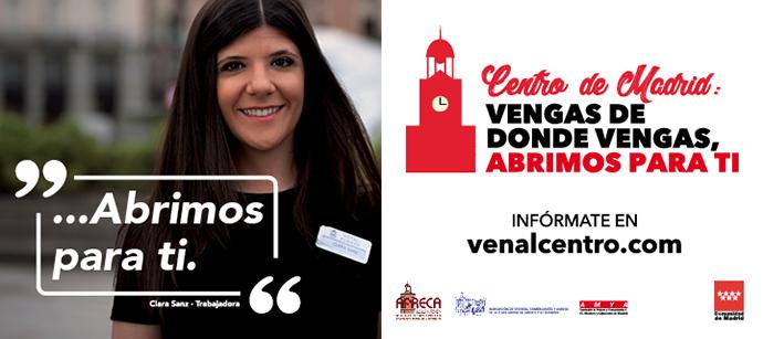 Además, la iniciativa ha puesto en marcha la web www.venalcentro.com, para informar al ciudadano.