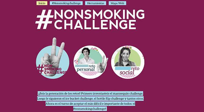 La cuenta creativa ha lanzado una campaña participativa con los jóvenes, invitándoles a un reto social contra tabaquismo #nonsmokingchallenge.