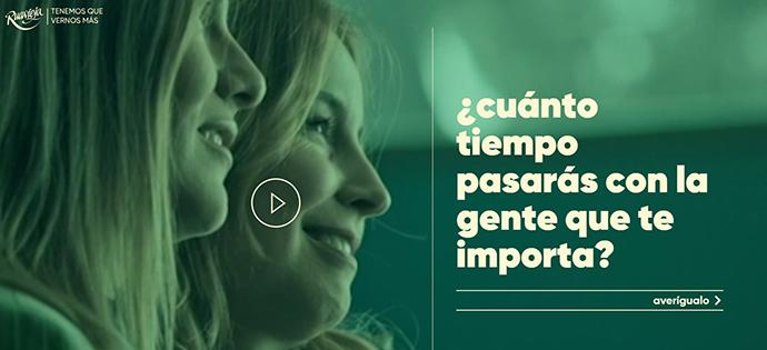 La marca de licores Ruavieja ha lanzado la campaña '¿Cuánto tiempo pasarás con la gente que te importa?', desarrollado por la agencia Leo Burnett y el director Fernández de Castro.