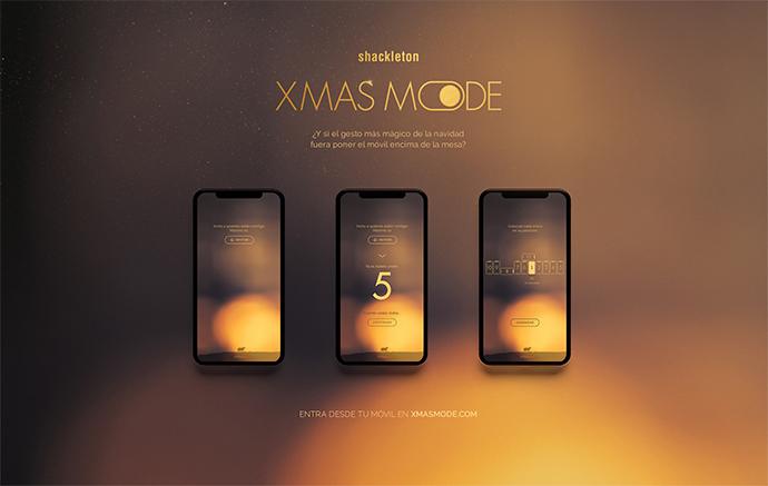 'Xmas Mode' requiere colocar sobre una mesa entre dos y 11 teléfonos que, al conectarlos a la web xmasmode.com, formen un belén con figuras reales.
