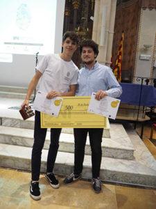 Diogo Brandao y José Benito, los galardonados.