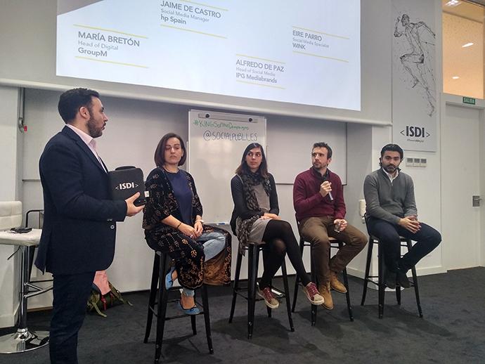 De izquierda a derecha: Ismael El-Qudsi (PubliSocial.com), María Bretón (GroupM), Eire Parro (Wink), Jaime de Castillo (HP Spain) y Alfredo De Paz (IPGMediabrands).