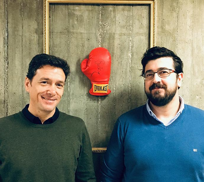 Amaro González (izquierda) y Juan Andrés Gallego (derecha).