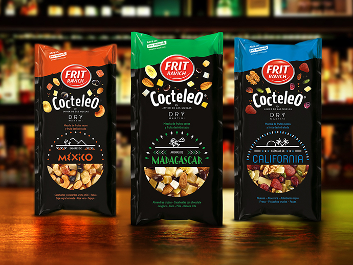 Frit Ravich, marca posicionada en el mercado español como los snaks predilectos por los consumidores para sus momentos de disfrute, trabaja un cobranding con Dry Martini .