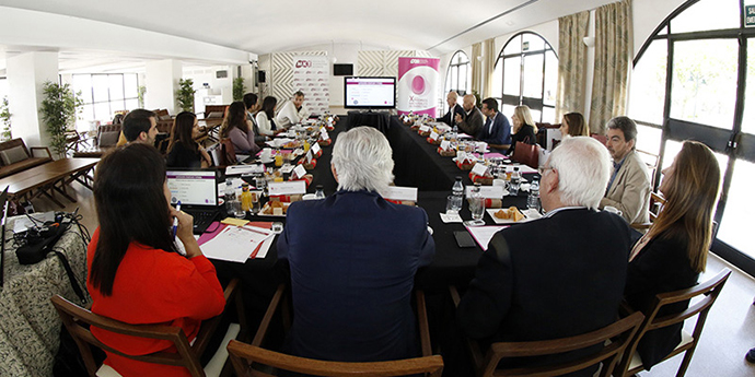 En la imagen, la presentación de los candidatos elegidos para ser jurado en la categoría Internacionalización LATAM, de la XI edición de los Premios Nacionales de Marketing.