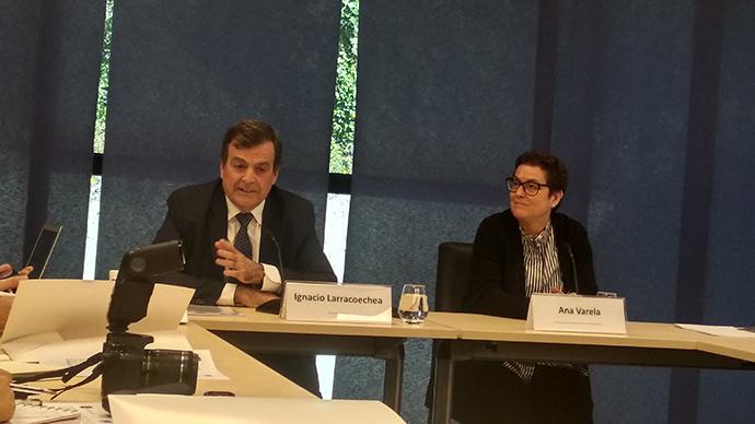 Ignacio Larracoechea, presidente de Promarca, y Ana Varela, directora de proyectos del Brand Excellence Club de Esadecreapolis.