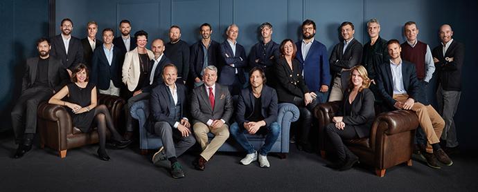 Juan Pedro Moreno, Pablo Alzugaray, Juan Nonzioli, José Luis Sancho, Carmen López y demás socios y directivos de Accenture Interactive y Shackleton.