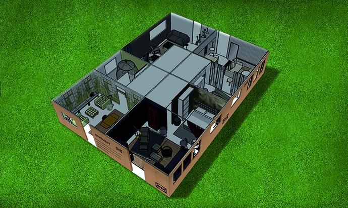 El pequeño hogar, que está ubicado dentro del propio Parc del Fòrum, estará equipado con todo lo necesario para vivir los tres días.
