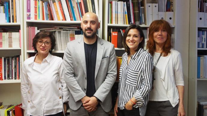 Concha Wert, directora general del club de creativos, Adrián Mediavilla, presidente de la APG, Beatriz Abad, directora de planificación de Wink TTD, y Uschi Henkes, presidenta del club de creativos.